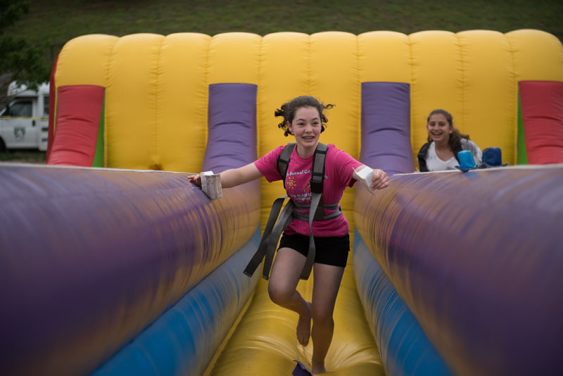 Fun on inflatables!