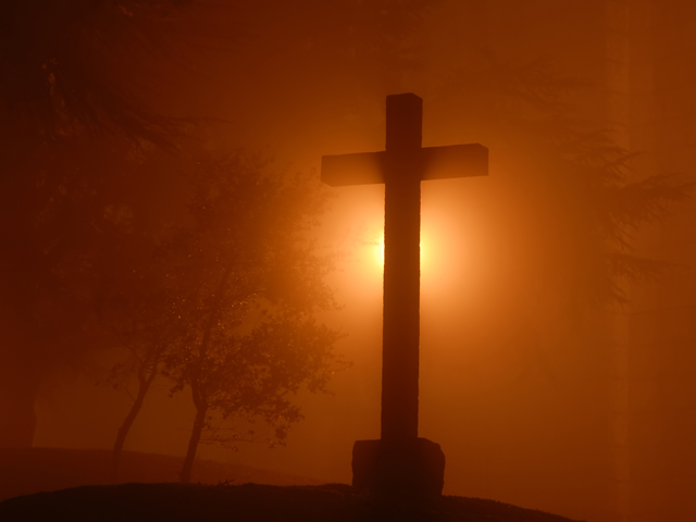 Cross in Mist
