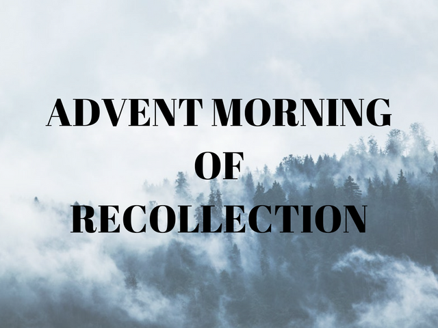 Advent Morning of Recollection Card