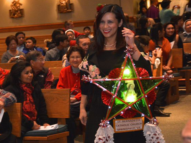 Filipino Woman with Parol