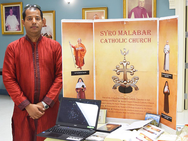 Syro Malabar Community with tri-fold board MCM Mass