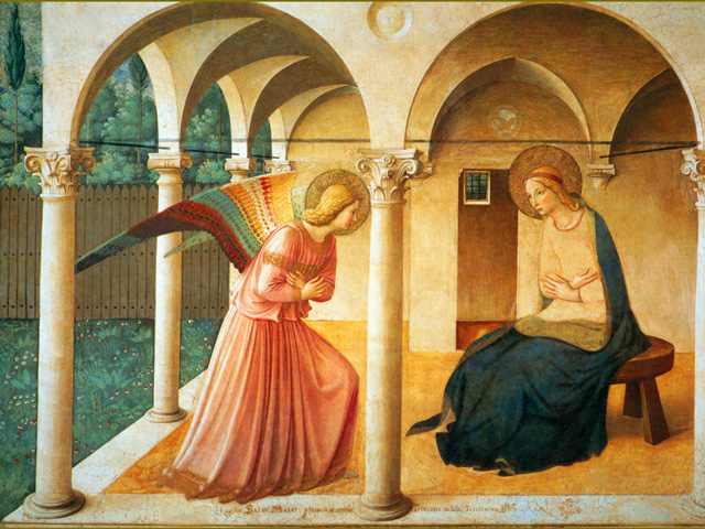 Annunciation FIAT fra angelico card