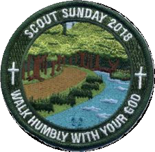 2018 Scout Sunday Observance Patch