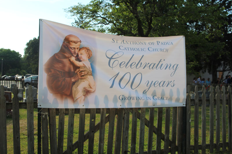 saint anthony 100 years sign