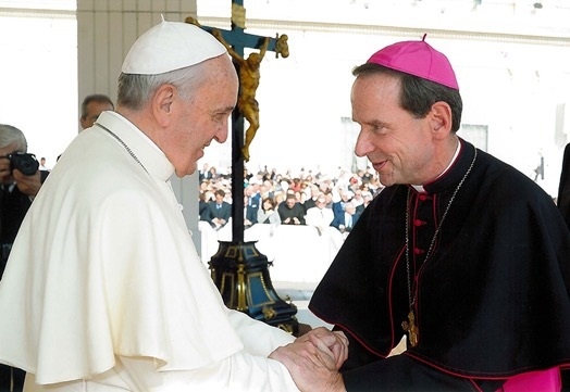 Bishop Burbidge meeting Pope Francis
