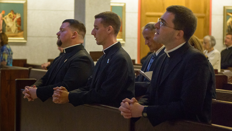 2017 Ordination Holy Hour Priestly Candidates in Prayer Closeup