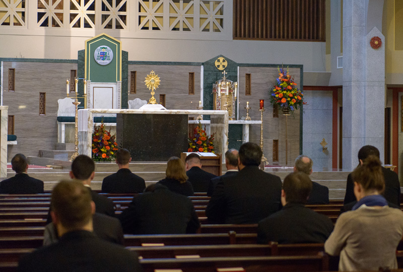 2017 Ordination Holy Hour Seminarians and People in Prayer