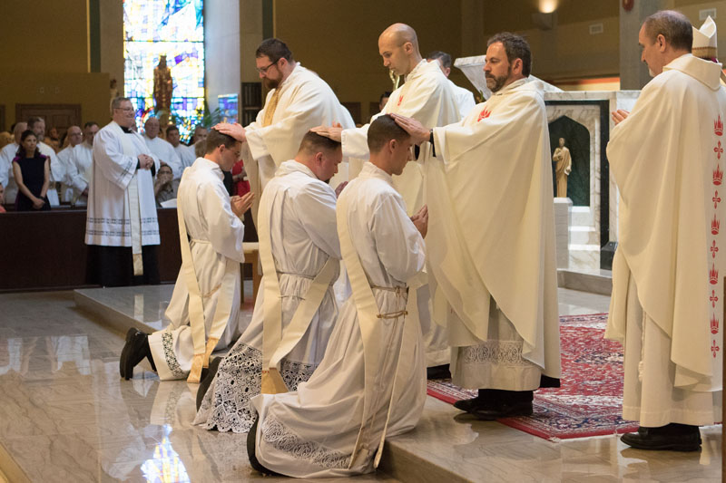 2017 Priesthood Ordinations Laying of Hands Brother Priests