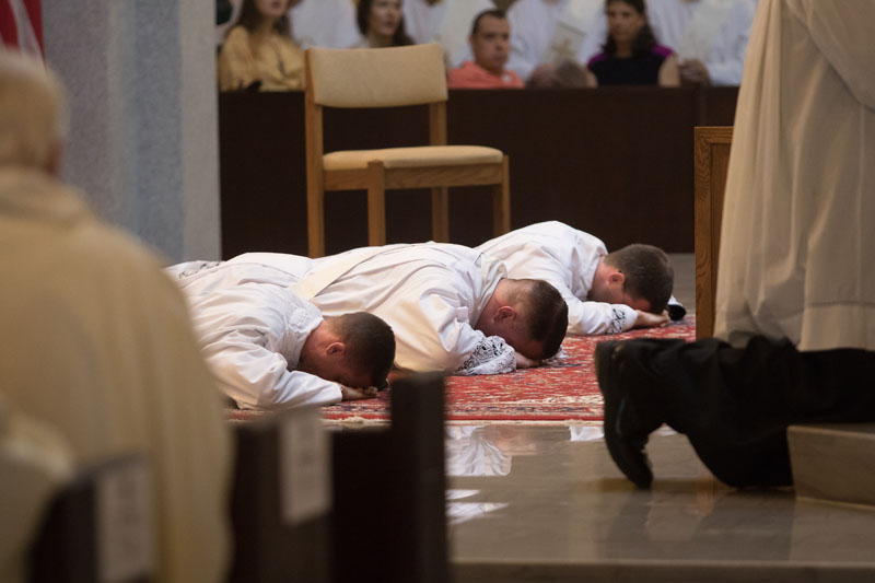 2017 Priesthood Ordinations Prostration of Candidates